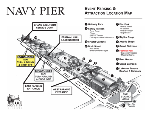Navy Pier Festival Hall Parking Directions To Navy Pier